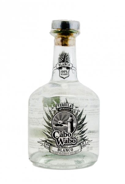 Cabo Wabo Blanco Tequila Old Label