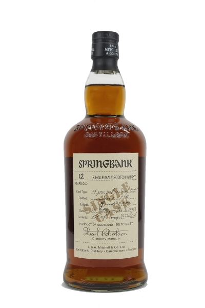 Springbank 12 Year Old Single Cask Fino Sherry