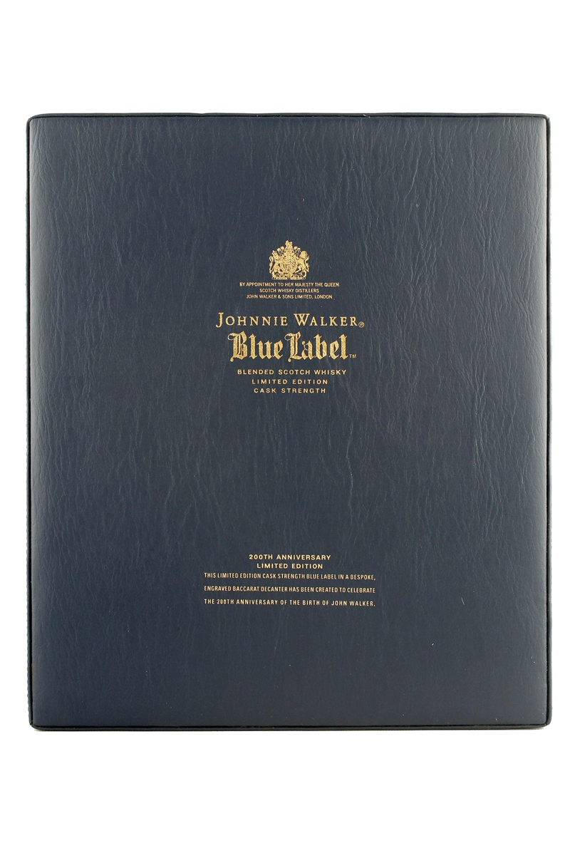 johnnie walker blue label 200th anniversary limited edition. Black Bedroom Furniture Sets. Home Design Ideas