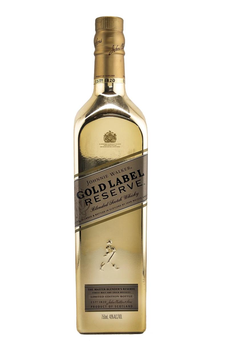 johnnie walker gold label reserve limited edition gold bottle. Black Bedroom Furniture Sets. Home Design Ideas