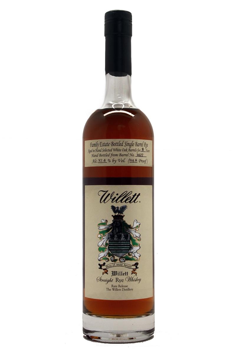 Willett 8 Year Old Single Barrel Rye Oaksliquors Com