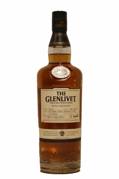 Glenlivet 14 Year Old Single Cask Bottled Jan 2016 Cask 5235