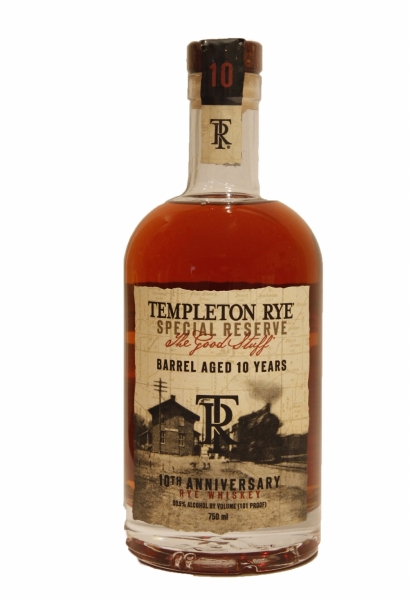 Templeton Rye 10 Year Old Special Reserve The Good Stuff