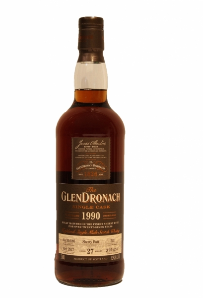GlenDronach 27 Year Old 1990 Sherry Butt