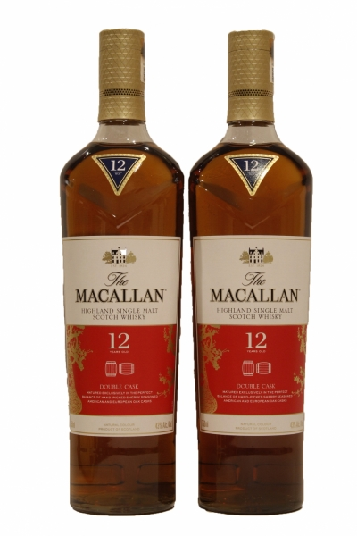 Macallan 12 year Old Double Cask Limited Edition Chinese Year Double Bottle Set