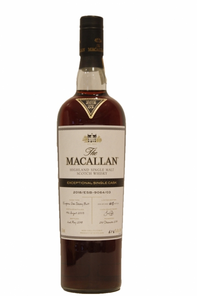 Macallan Exceptional Single Cask 2018 Cask No.3917
