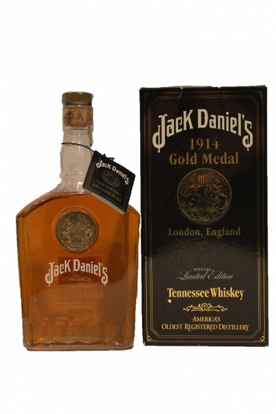Jack Daniel's 1914 World's Fair Gold Medal London tag #149613 Collection #23