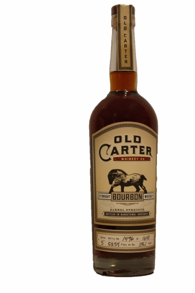 Old Carter 12 Years Old  Bourbon Batch 5 115.1 Proof