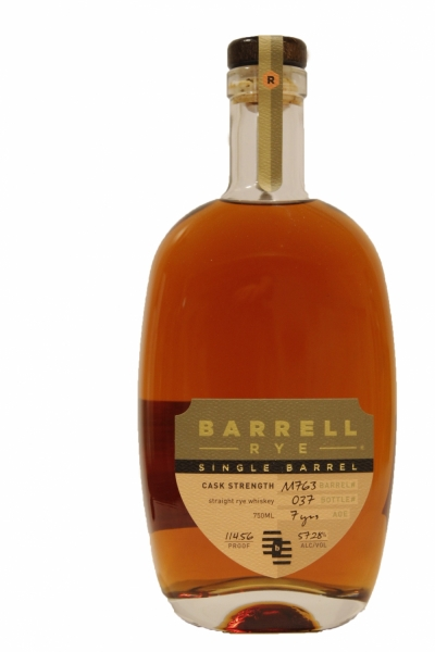 Barrell Rye Single Barrel Cask Strengh 7 Years Old Cask M763
