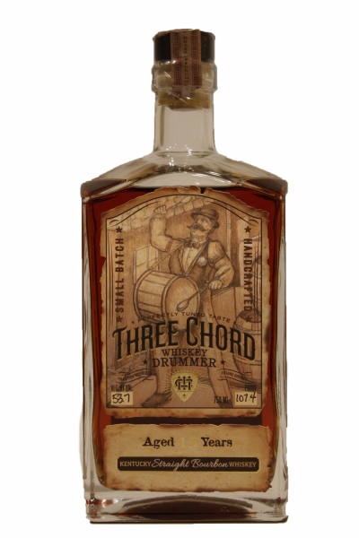 Three Chord Drummer 15 Year Old Small Batch  Bourbon