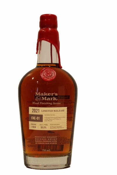 Maker's Mark Wood Finishing Series FAE-01 Limited Release Kentucky Straight Bourbon Whisky 2021