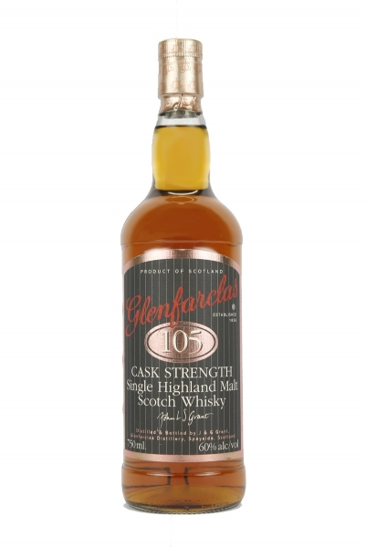 Glenfarclas 105 Cask Strength Vintage Label