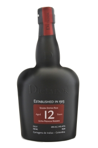 Dictador Solera System 12 Year Old Rum