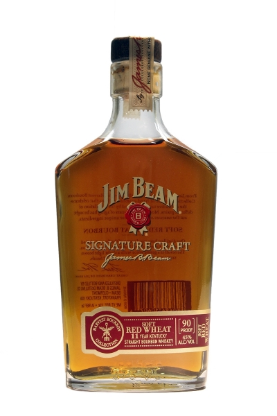 Jim Beam Signature Craft Harvest Bourbon Collection Soft Red Wheat 11 Year Old (375ML)